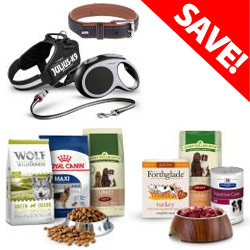 Save on Dog Food and Accessories